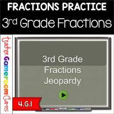 3rd Grade Fraction Jeopardy Like Powerpoint Game By Teacher Gameroom