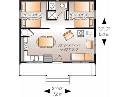 Eplans Country House Plan Two Bedroom Country 480 Square Feet