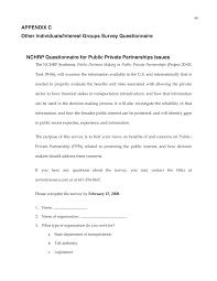 appendix c other individuals interest groups survey page 98