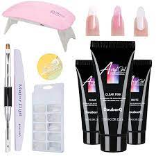 douborq 8pcs nail dr poly gel kit with