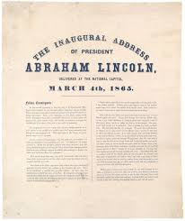 president lincoln s second inaugural address 1865 the gilder the inaugural address of president abraham lincoln delivered at the national capitol 4