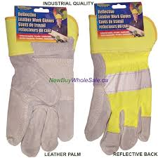 reflective leather work gloves t 3 99 industrial quality
