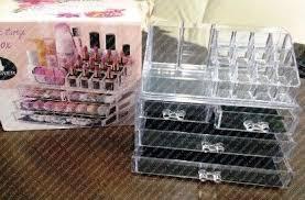 acrylic cosmetic organizer 4 drawers makeup case storage holder box make up