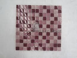 pink crystal glass mosaic tile