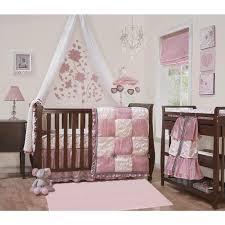 luxury baby bedding sets custom pink brown polka dot circles crib 9pc girl modern boy nursery