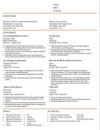 Accounting Grad Student Resume Critique Please Help