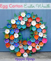 diy tutorial egg carton crafts easter craft egg carton wreath tutorial