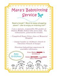 Babysitter Flyer Maker 008 Free Babysitting Flyer Template Formidable Ideas