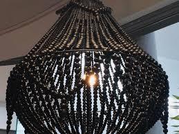 wooden beaded chandeliers