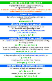 standard form of an equation a maths dictionary for kids quick reference by jenny eather
