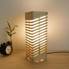 Table Wood Lamp For Nightstand Handmade Wooden Led Lamp Shade Reading Desk Lamps Wooden Gifts For Home