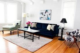 dark blue sofa. Velvet Sofa In Dark Blue - Living Room Design By Mint Home Decor, Via Houzz E