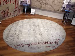 The Mozart Music Note area rug