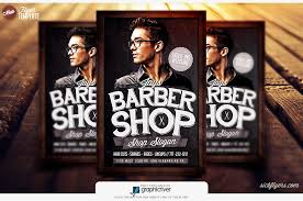 barber flyer barbershop flyer template salon flyer barbershop psd flyer