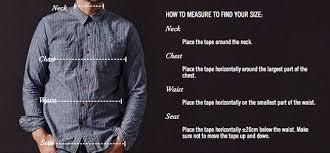 Men Sizechart Tops