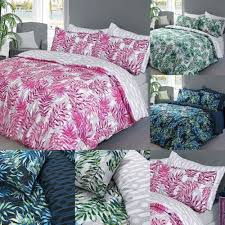 details about palm leaf printed poly cotton duvet cover quilt covers pillowcases bedding sets