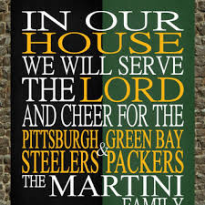 a house divided pittsburgh steelers green bay packers nfl pe