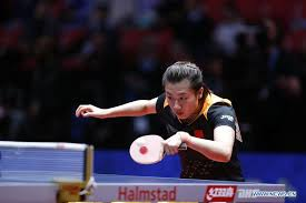 ding ning of china returns the ball to filippa bergand of sweden during the women s group a fifth round match of 2018 world team table tennis championships