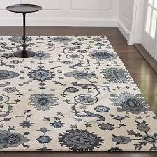 crate barrel 9 x 12 juno white handmade persian style woolen rugs carpet