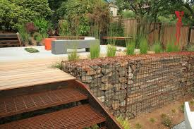 Small Picture Stone Walls and Gabion Stone Fences A Stylish Alternative for