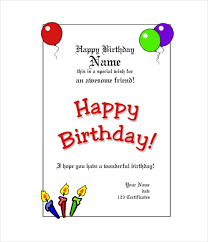 Happy Birthday Gift Certificate Template Word Happy Birthday Gift ...