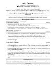 Resume Examples For Human Resources Position