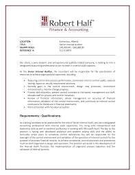 internal audit resume