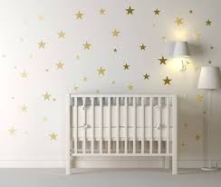 120 gold metallic stars nursery wall stickers on gold stars wall art with jungle animals wall stickers for kids rooms safari nursery rooms