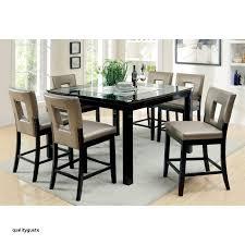 furniture of america vanderbilte 9 piece gl inlay counter height dining set black walmart