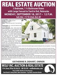 Real Estate Bill Of Sale Cool Real Estate Auction Wolf Inc Auction Real Estate