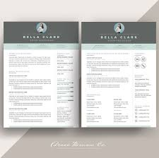 Resume Template 4 Page Pack Aqua At Resume Sample Ideas