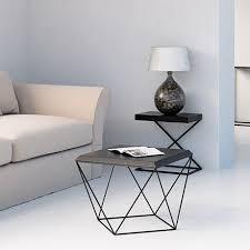 tulip coffee table mdf all black