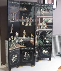 Antique Chinese Black Lacquer Coromandel Screen The Specialists
