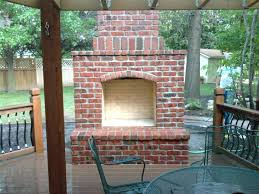 outdoor brick fireplace diy oven