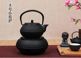 handmade cast iron tea stove alcohol lamp base to boil tea warmer tea set heater furnace temperature tea