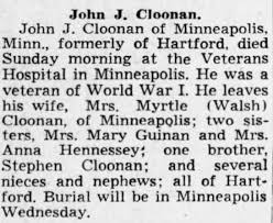 Obituary for John J. Cloonan - Newspapers.com