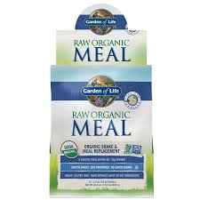 raw organic meal shake meal replacement vanilla 10 packets 69g each