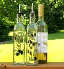 decorative olive oil bottles decorative clear glass