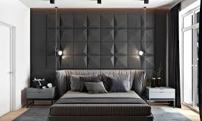 accent wall lighting. Bedroom Grey Star Pattern Two Camera Lights Accent Wall Dangling Striped Covers Gray Lighting V