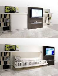 hidden bed furniture. Multipurpose Furniture For Tiny Houses - Entertainment Center With Hidden Bed D