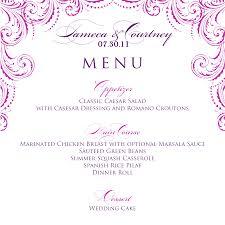 christmas menu template cf resume wedding menu template