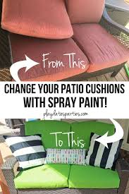 Yes I Actually Spray Painted My Patio Cushions ORC Week 5