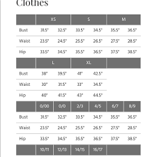 Charlotte Russe Size Chart