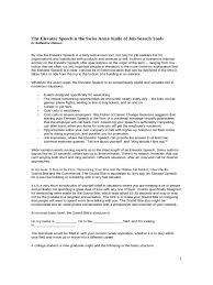 elevator pitch examples 4 templates in pdf word excel elevator speech sample