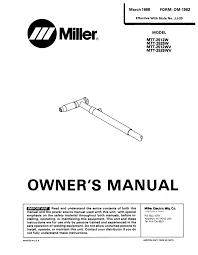 Miller Mtt 2512wv Specifications Manualzz Com