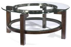 fantastic round glass top coffee table mirror co set