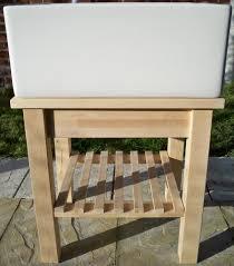 60cm 24 belfast butler sink stand unit freestanding heavy set frame