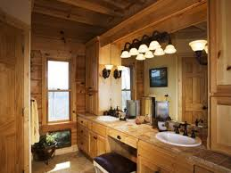 western bathroom designs. Western Rustic Bathroom Decor With Double Sink Vanity Under Large Mirror And Wall Designs