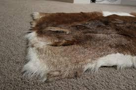 natural character stripe goatskin rug cs3 137x61cm