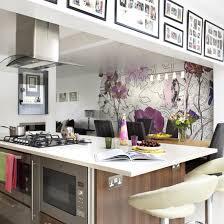 Good Kitchen With Striking Statement Wallpaper Pictures Gallery